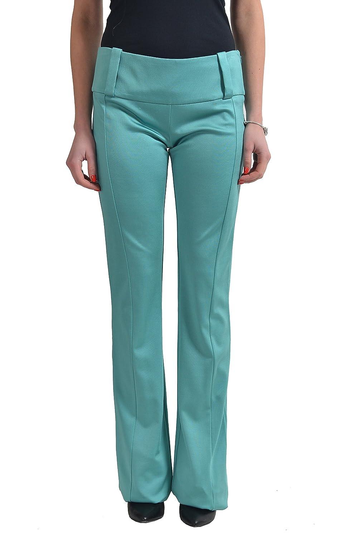 Just Cavalli Women's Green Stretch Casual Pants US 4 IT 40