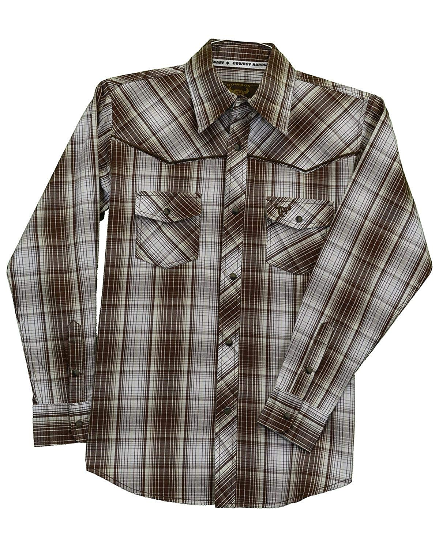 Cowboy Hardware Boys Fellow Plaid Long Sleeve Western Shirt