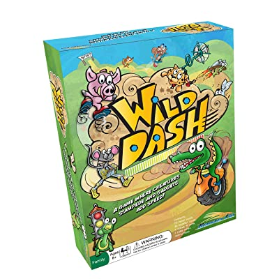 Wild Dash Family Board Game – Practice Counting and Improve Logic Skills with Animal Number Cards and a Fun Dice Roller, Educational Fun for All Ages, Kids and Adults 7 Years and Up