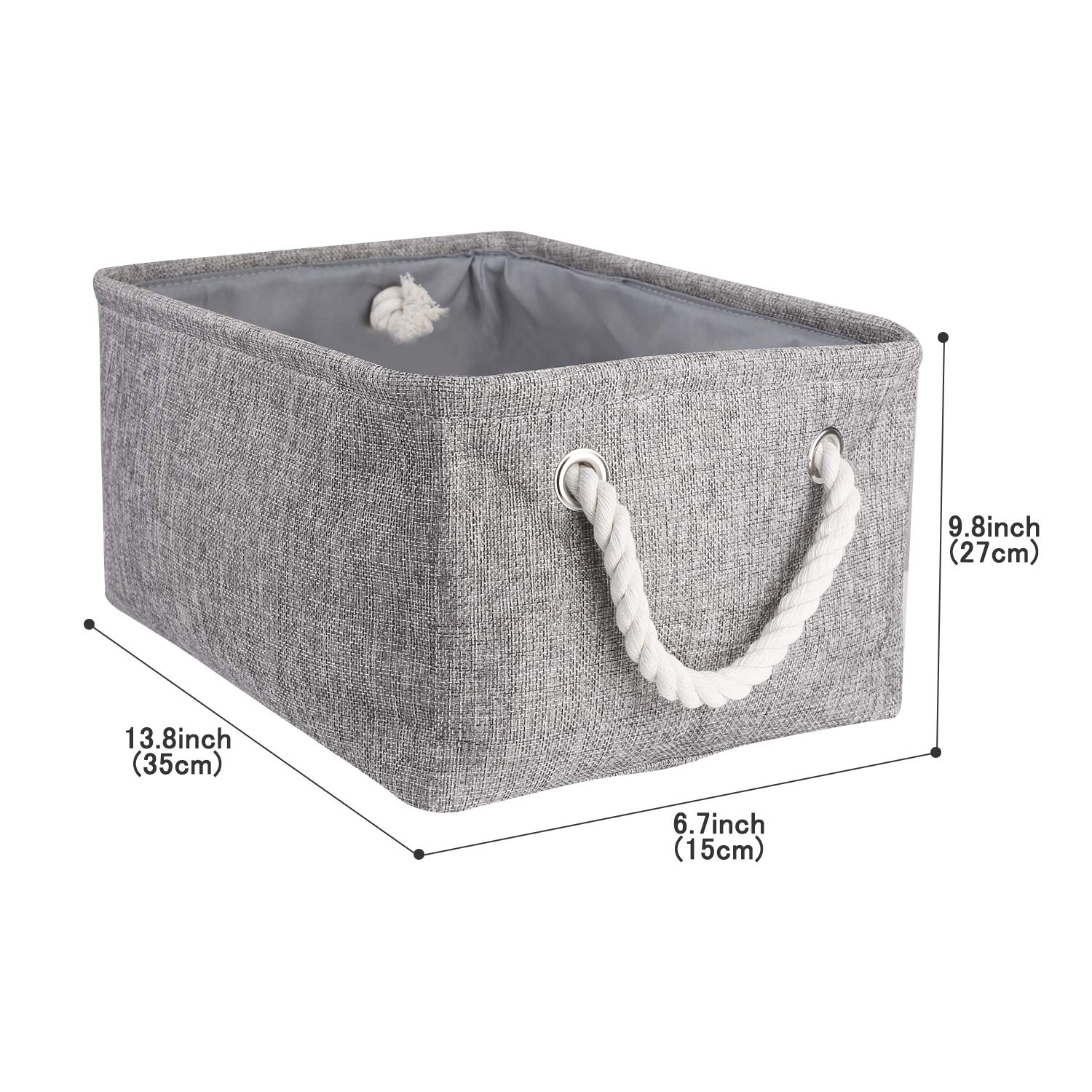 Toys Collapsible Organizer Bin with Handle for Towels Grey, Small COOMHOME Fabric Storage Baskets for Shelves Clothes Nursery Grey Kids Room