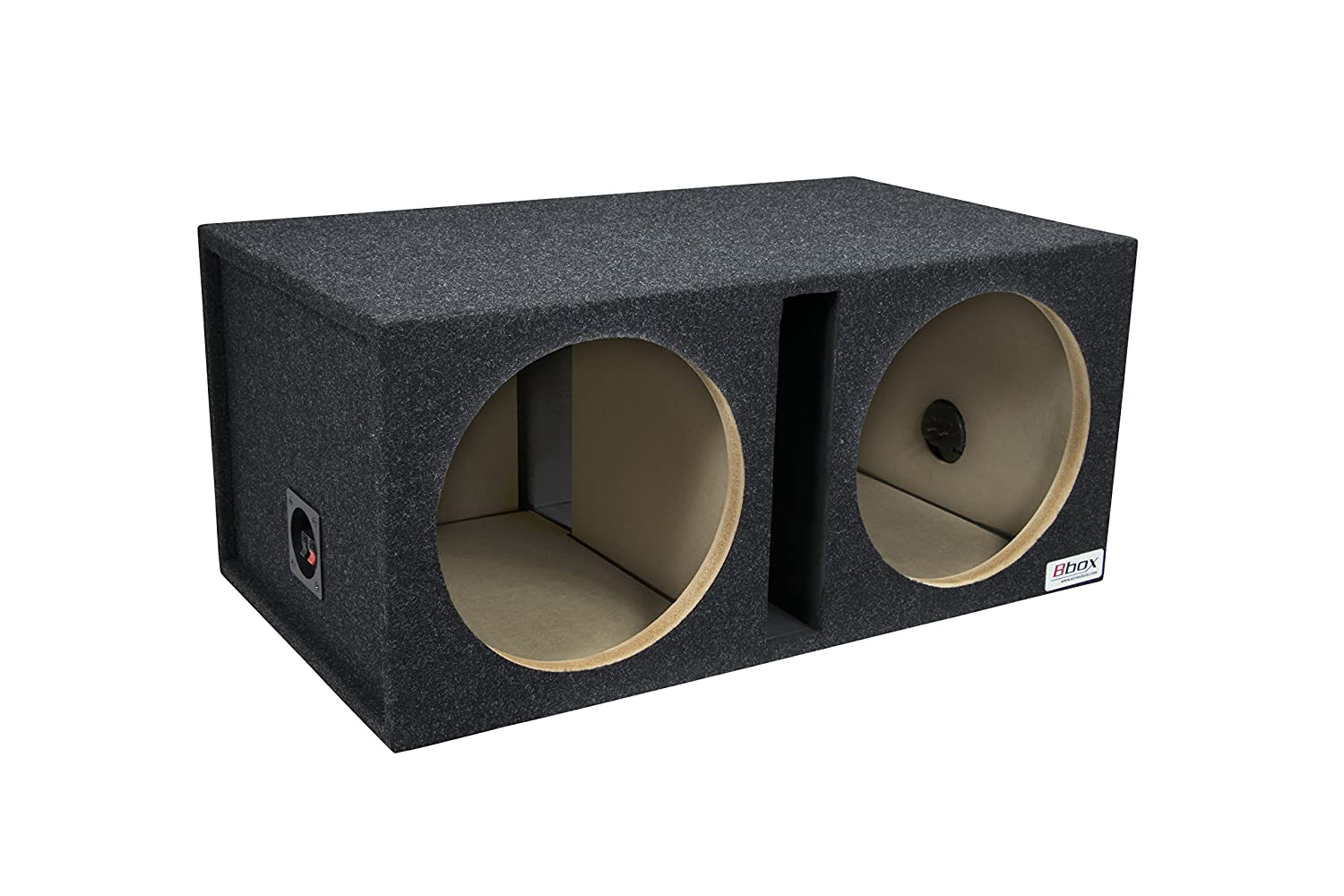 "Bbox E12DSV Dual 12"" Shared Vented Carpeted Subwoofer Enclosure}"