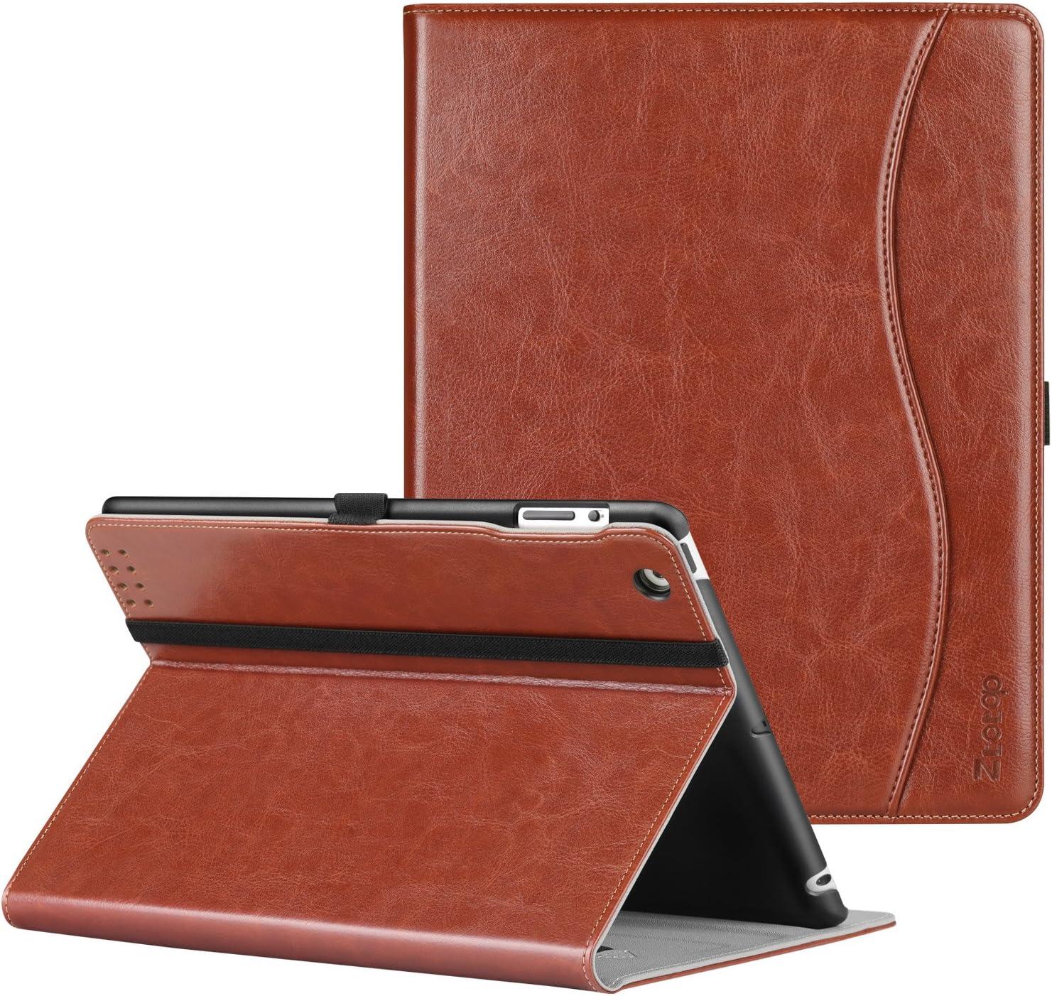 Ztotop Case for iPad 2/3/4 - Premium PU Leather Business Slim Folding Stand Folio Cover with Auto Wake/Sleep for iPad 4th Generation with Retina Display, iPad 3, iPad 2,Brown