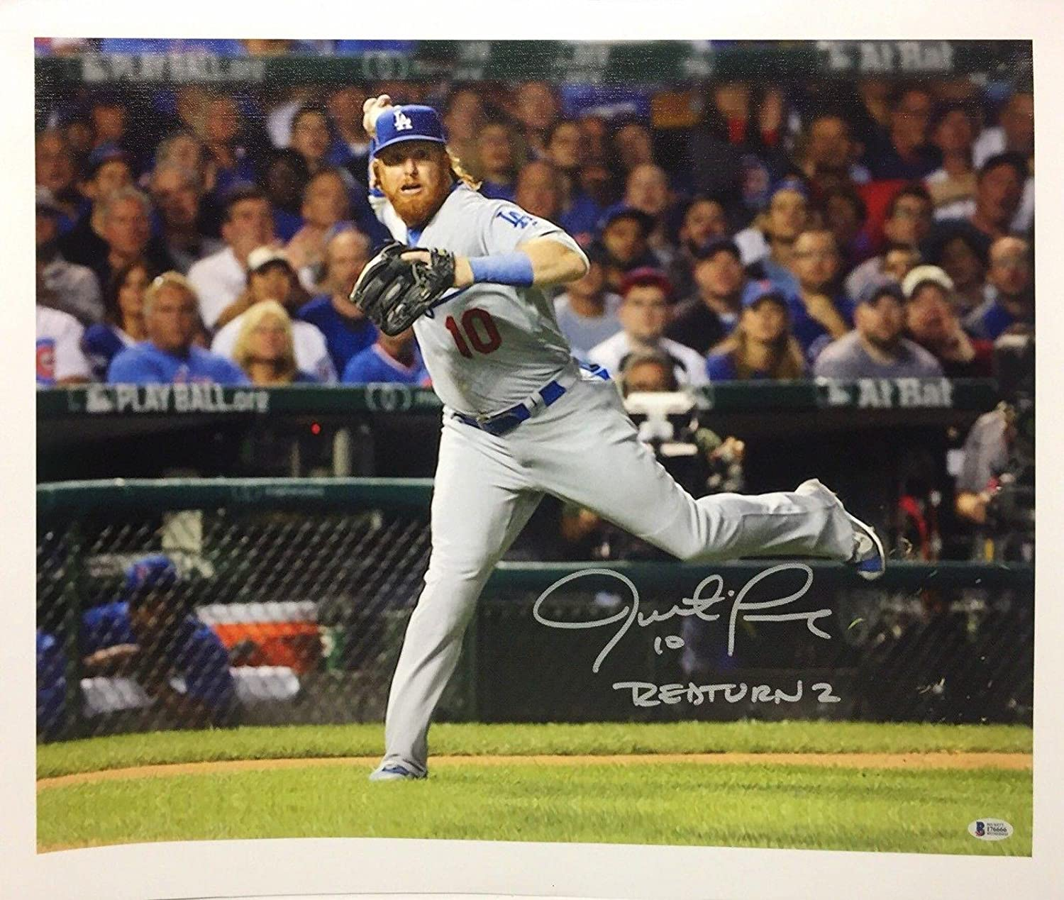 068d610a2 Justin Turner Signed 24x20.5 Canvas Photo