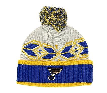 596d6ca8f9811 Outerstuff St. Louis Blues NHL Men s David Backes  42 Pom Pom Winter Hat