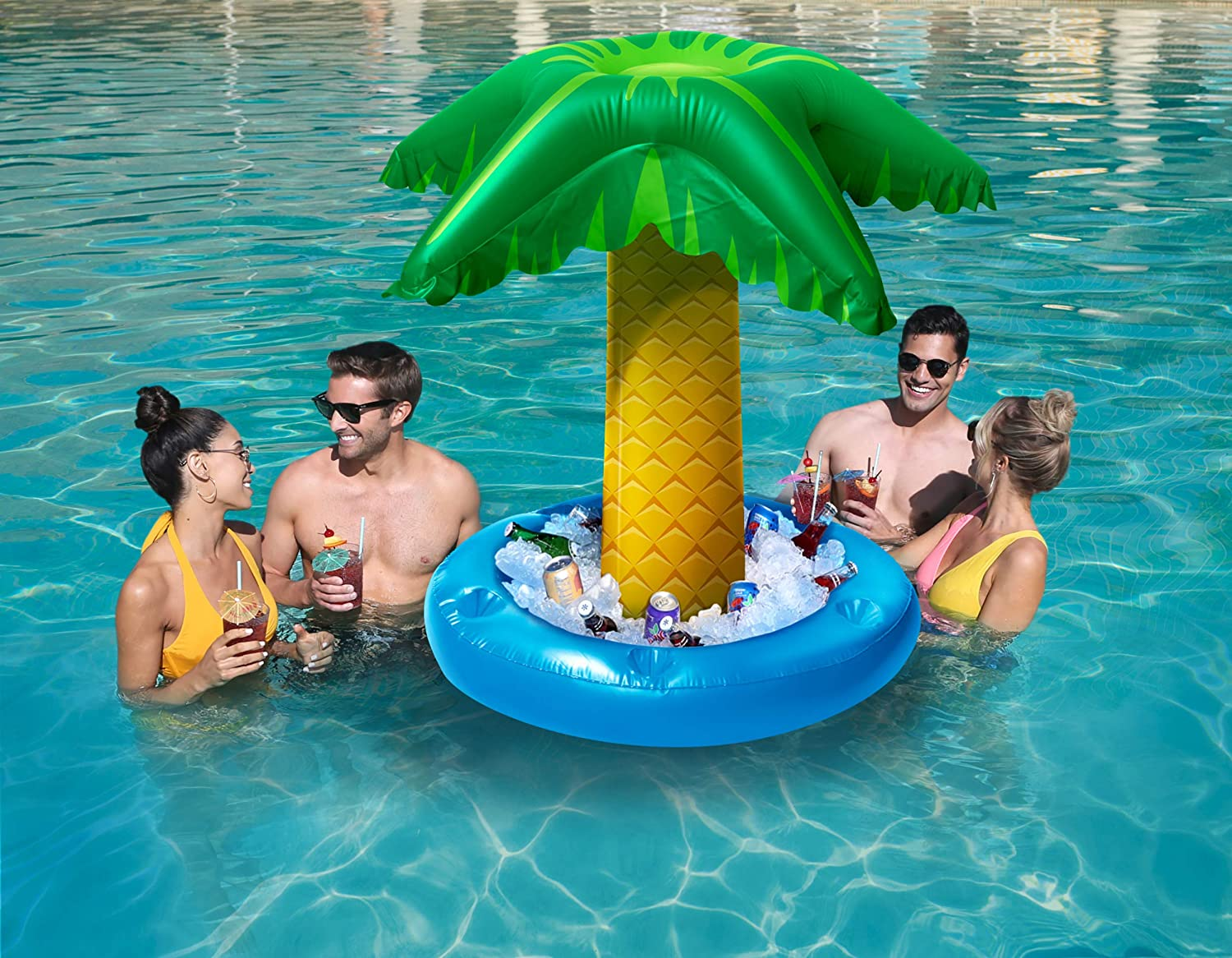 Floating Tiki Bar for swimming pool