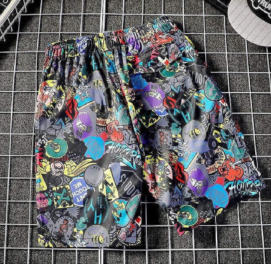 VITryst-Men Fashion Print Casual Waist Tie Beach Shorts