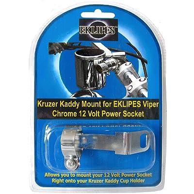 EKLIPES EK1-162 Chrome 12V Viper Power Socket Mounting Bracket for Kruzer Kaddy and Kustom Kaddy Cup Holders: Automotive