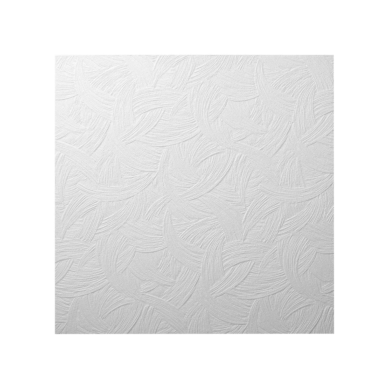 Decosa Dalle de plafond AP105 (Zagreb), blanc 50 x 50 cm - PRIX SPECIAL LOT de 5 sachets (= 10 m2) Saarpor
