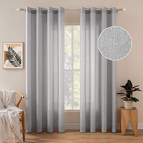 MIULEE Sheer Curtains 108 inche
