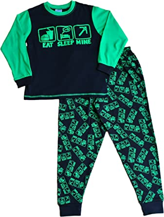 Comer dormir mina de la Boy pijama fantástico estilo de juegos de ordenador All Over Print 7 A 14 años