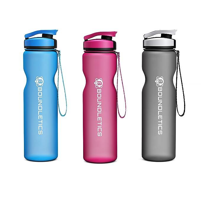 Botella Deportiva - 1L BPA Free - La mejor botella reutilizable de agua para niños y adultos, ir a correr, jugar al fútbol, ir de camping y demás ...