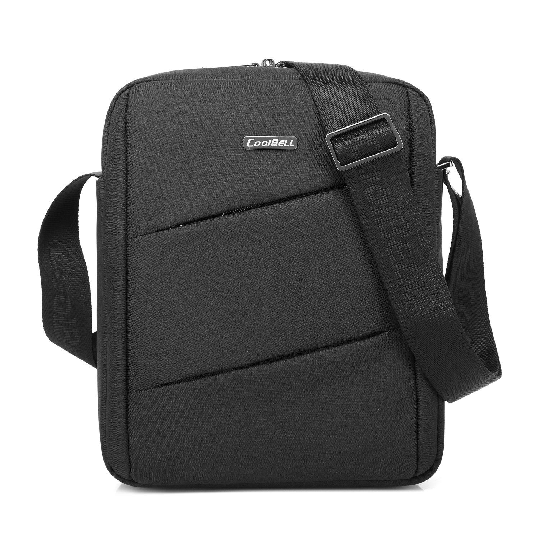CoolBELL 10.6 Inch Shoulder Bag Carrying Day Bag With Adjustable Shoulder Strap Simple Style Sleeve Case For Tablet/iPad (Black)