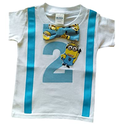 2nd Birthday Shirt Boys Minions Tee