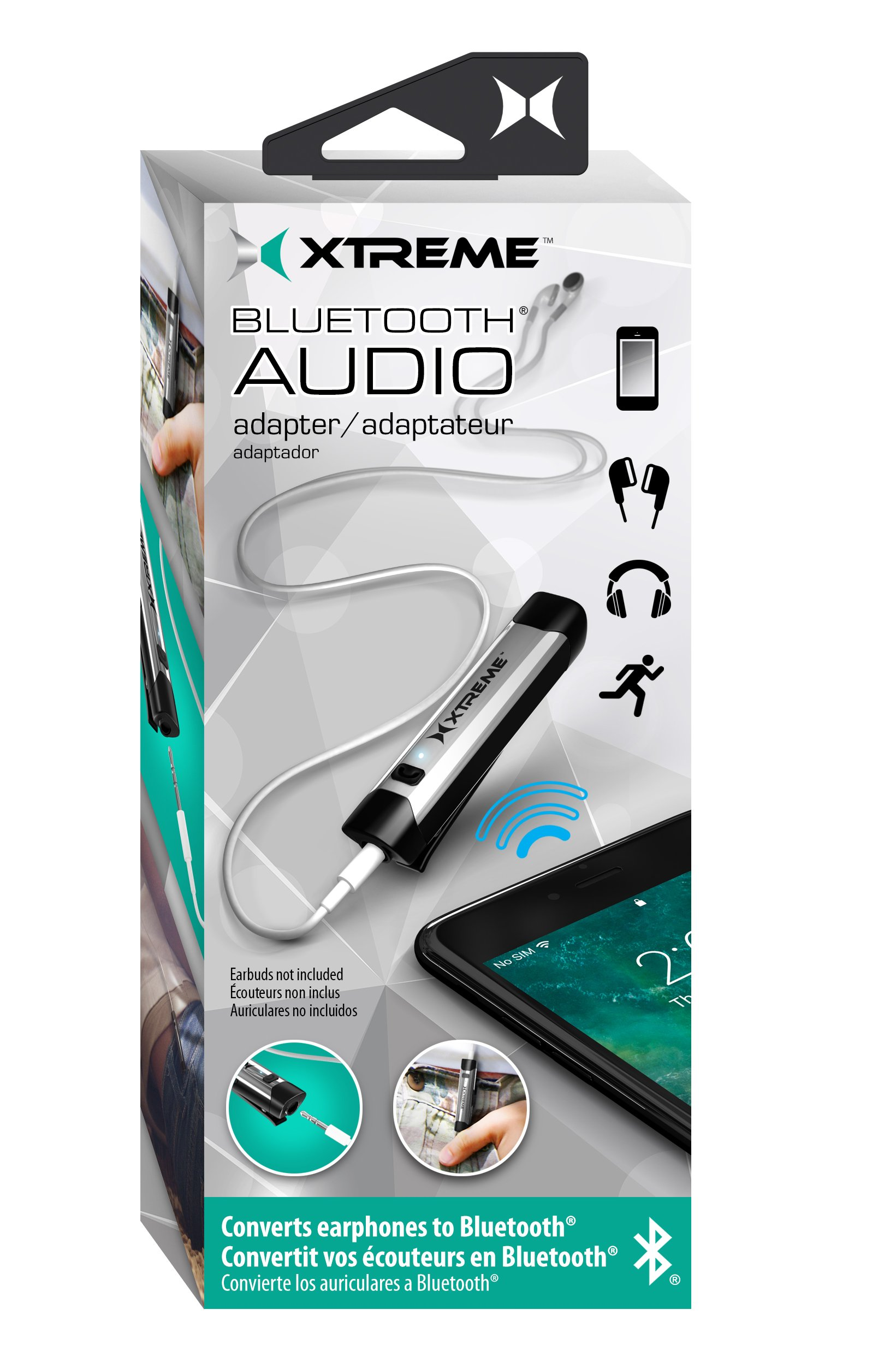 Xtreme Cables Bluetooth to 3.5mm Audio Adapter