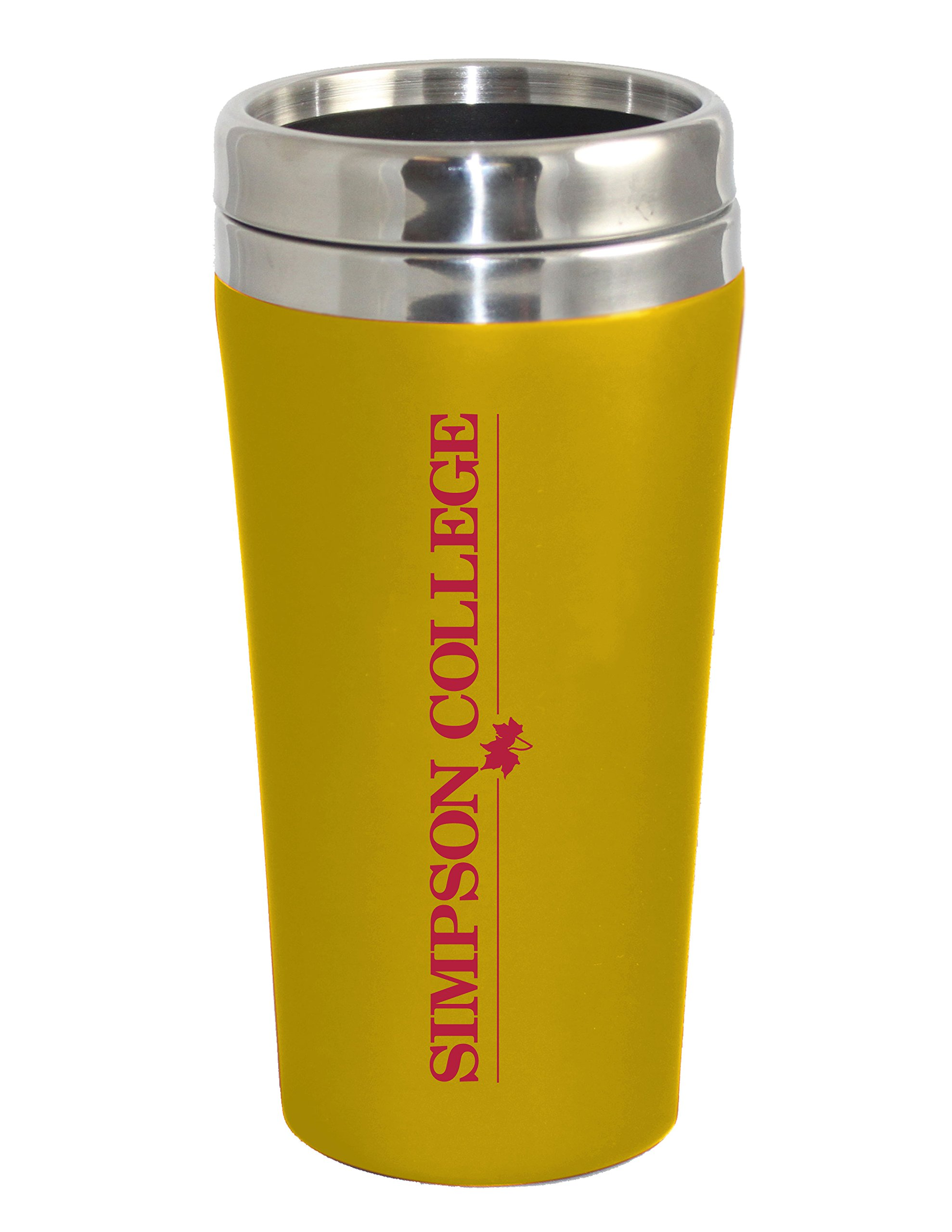 Fanatic Group Simpson College Double Walled Travel Tumbler, Design 1 - Gold