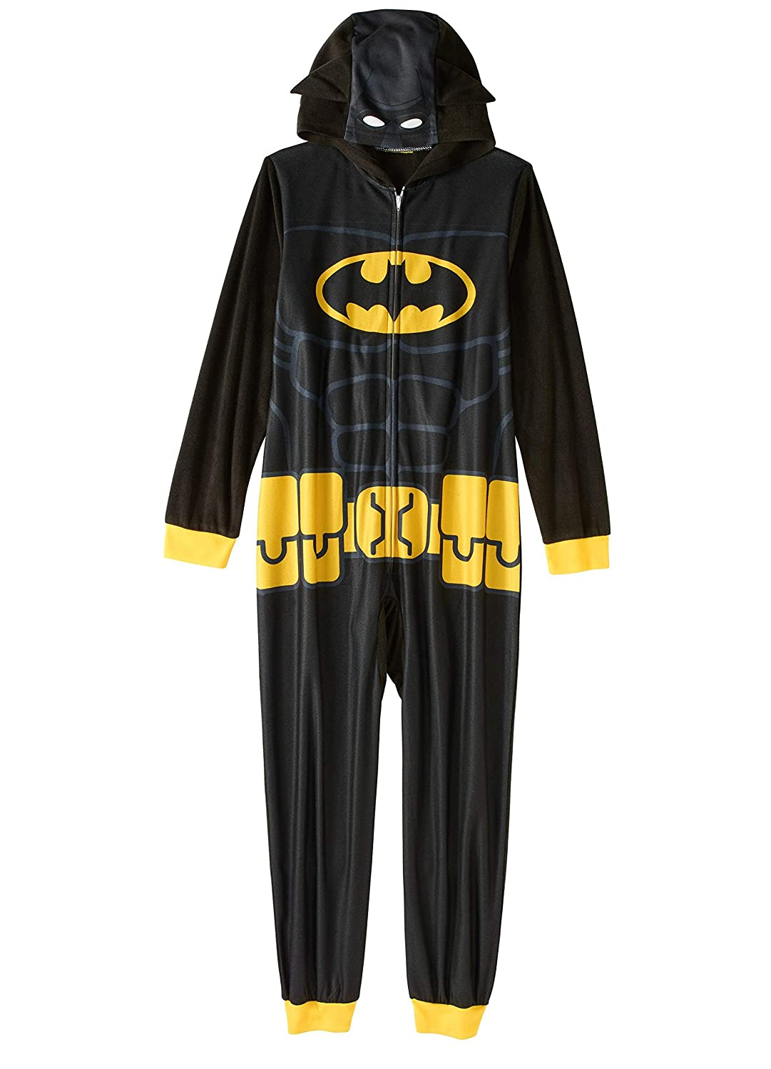 Batman Boys' Hooded Pajama Union Suit