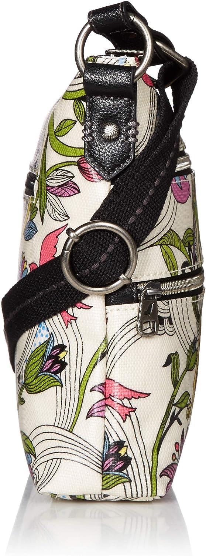 Sakroots Damen Basic Umhängetasche, mehrfarbig White Peace Dove