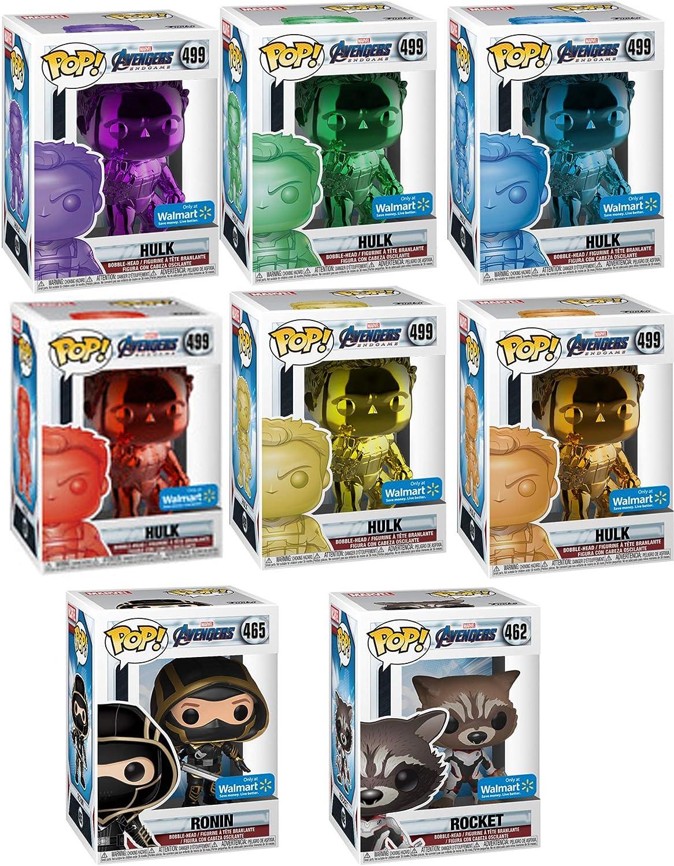 Funko The Ultimate Infinity Stones Collectors Set POP! Marvel: Exclusive Chrome Hulk Infinity Stone Set 499 (6 Colors) + Ronin 465 + Rocket 462 (MEGA 8 Pack Store Exclusive Bundle): Amazon.es: Juguetes y juegos