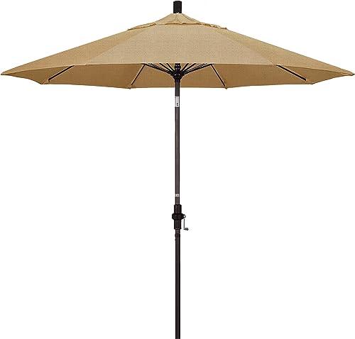 California Umbrella GSCUF908117-8318 9' Round Aluminum Pole Fiberglass Rib Market Patio Umbrella