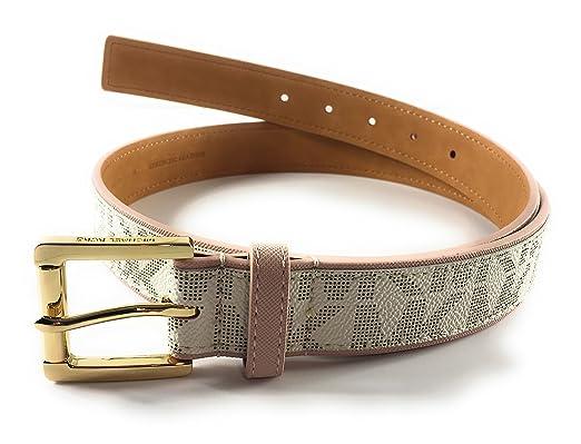 nuova versione speciale per scarpa nuovo autentico Michael Kors Women's Belt White White L: Amazon.co.uk: Clothing