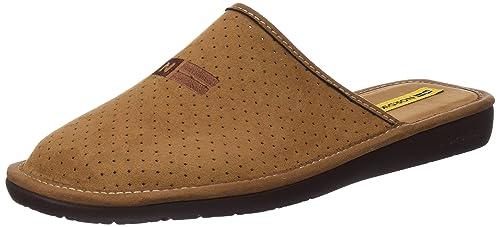 Nordikas 3115, Zapatillas de Estar por casa con talón Abierto para Hombre, Marrón (Brown), 42 EU: Amazon.es: Zapatos y complementos