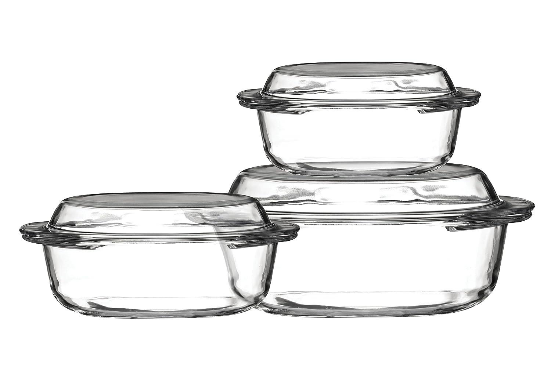 Premier Housewares Casserole Glass Dishes - Set of 3 0104113