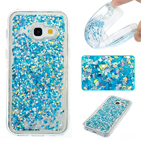 Anfire Funda para Samsung Galaxy A3 2017 Carcasa Glitter Silicona Líquido Arenas Movedizas TPU Case Transparente Cubierta Caja Sparkle Claro Cristal ...