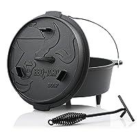 Premium Serie DO6P BBQ-Toro Holzkohlegrill klein schwarz Gusseisen Charcoal Grill Garten Camping Picknick ✔ rund