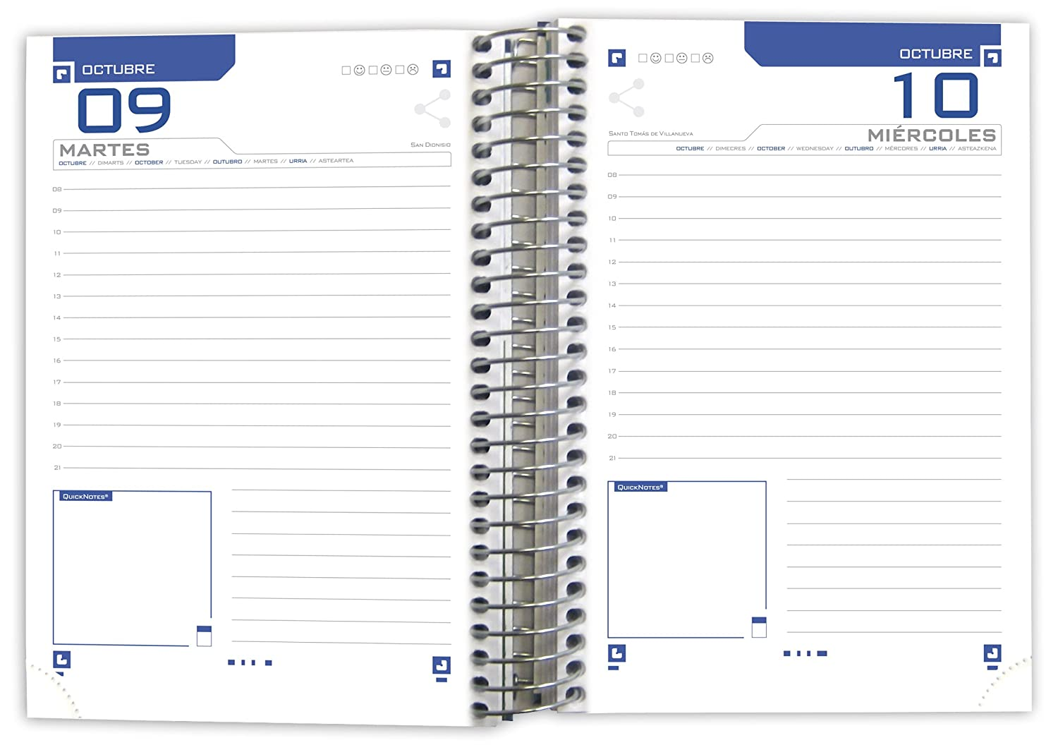 Amazon.com : Oxford Floral School Agenda, Day Page with ...
