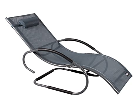 Sedia A Sdraio Basculante : Lusso xxxl alluminio vibrazione sedia a sdraio swing sedia sdraio