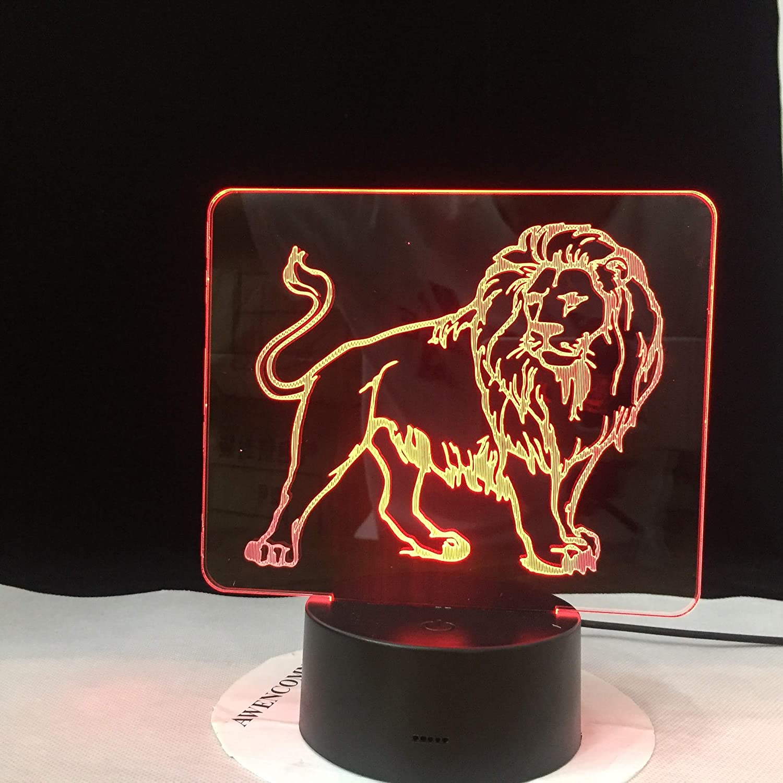 León Imagen Color visión luz Nocturna Control táctil Color luz ...