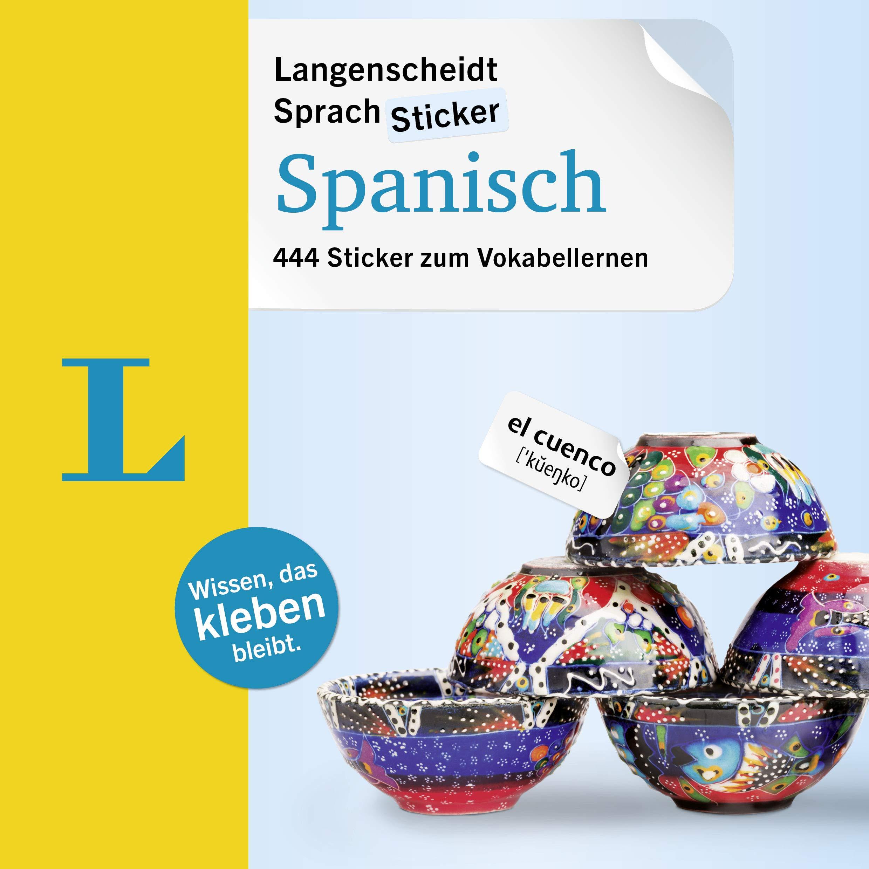 Langenscheidt SprachSticker Spanisch - mit Fotos: 444 Sticker zum Vokabellernen