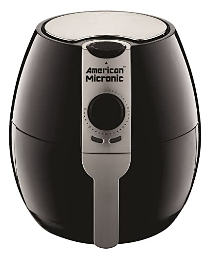 American Micronic- AMI-AF1-35CLDx- 3.5 Liters 1500 Watts Imported Air Fryer (Black/Silver)