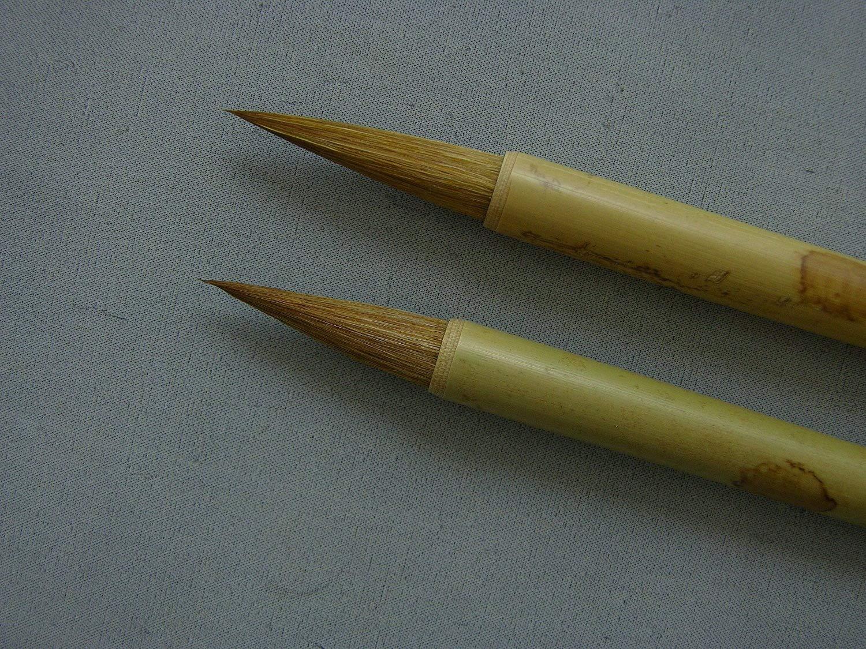 Bamboo and Orchid Brushes Set of 2 (Medium) Xu Laosan