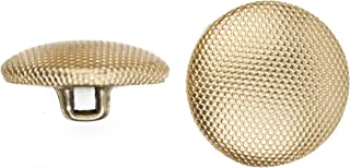 product image for C&C Metal Products 5052 Beaded Pattern Dome Metal Button, Size 24 Ligne, Gold, 72-Pack