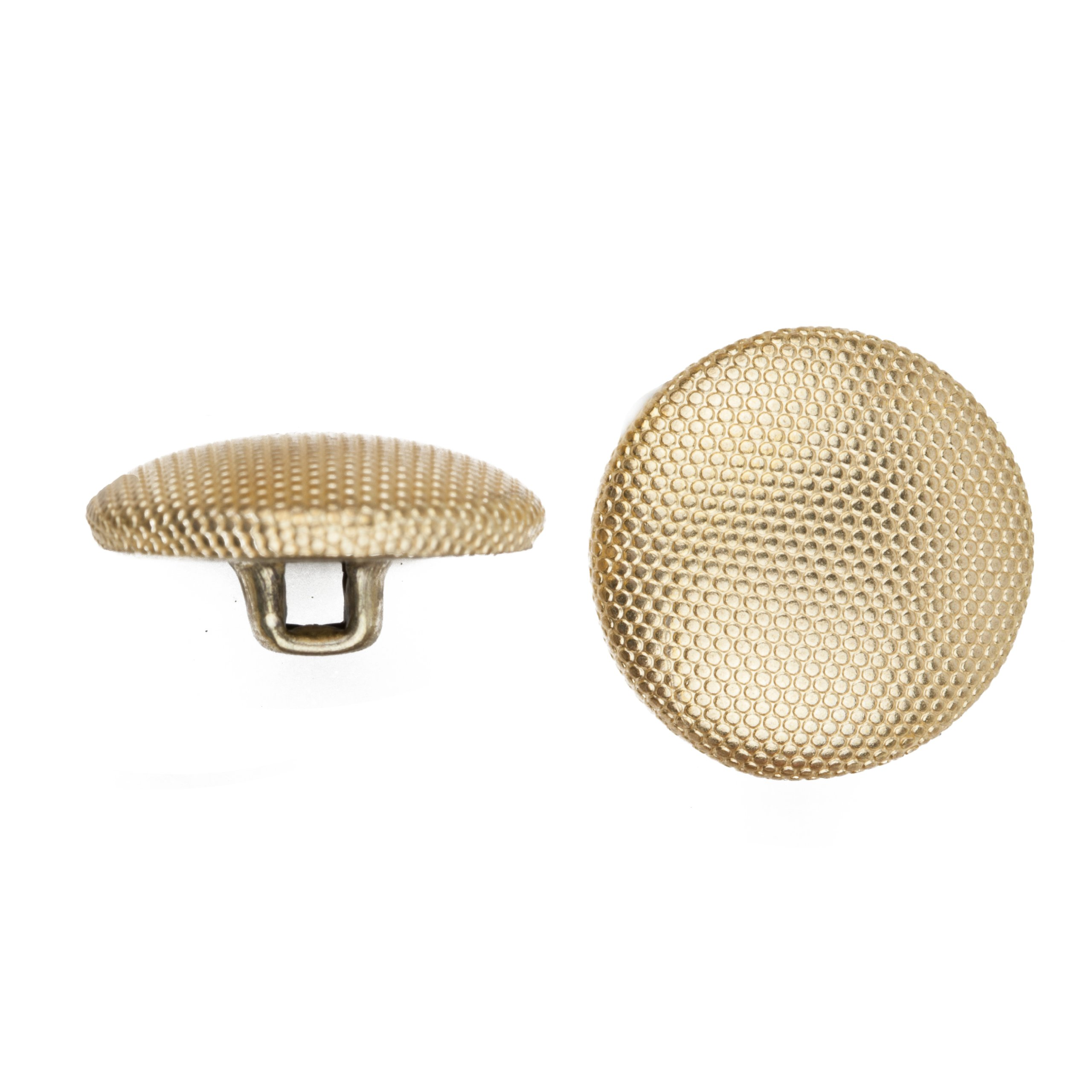 C&C Metal Products 5052 Beaded Pattern Dome Metal Button, Size 24 Ligne, Gold, 72-Pack