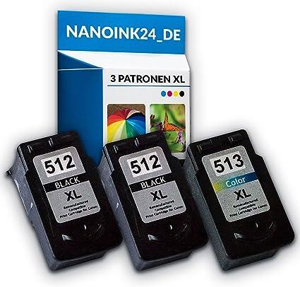 3 x Compatible Cartuchos de Tinta para 2 x Canon 512 XL y 513 XL ...