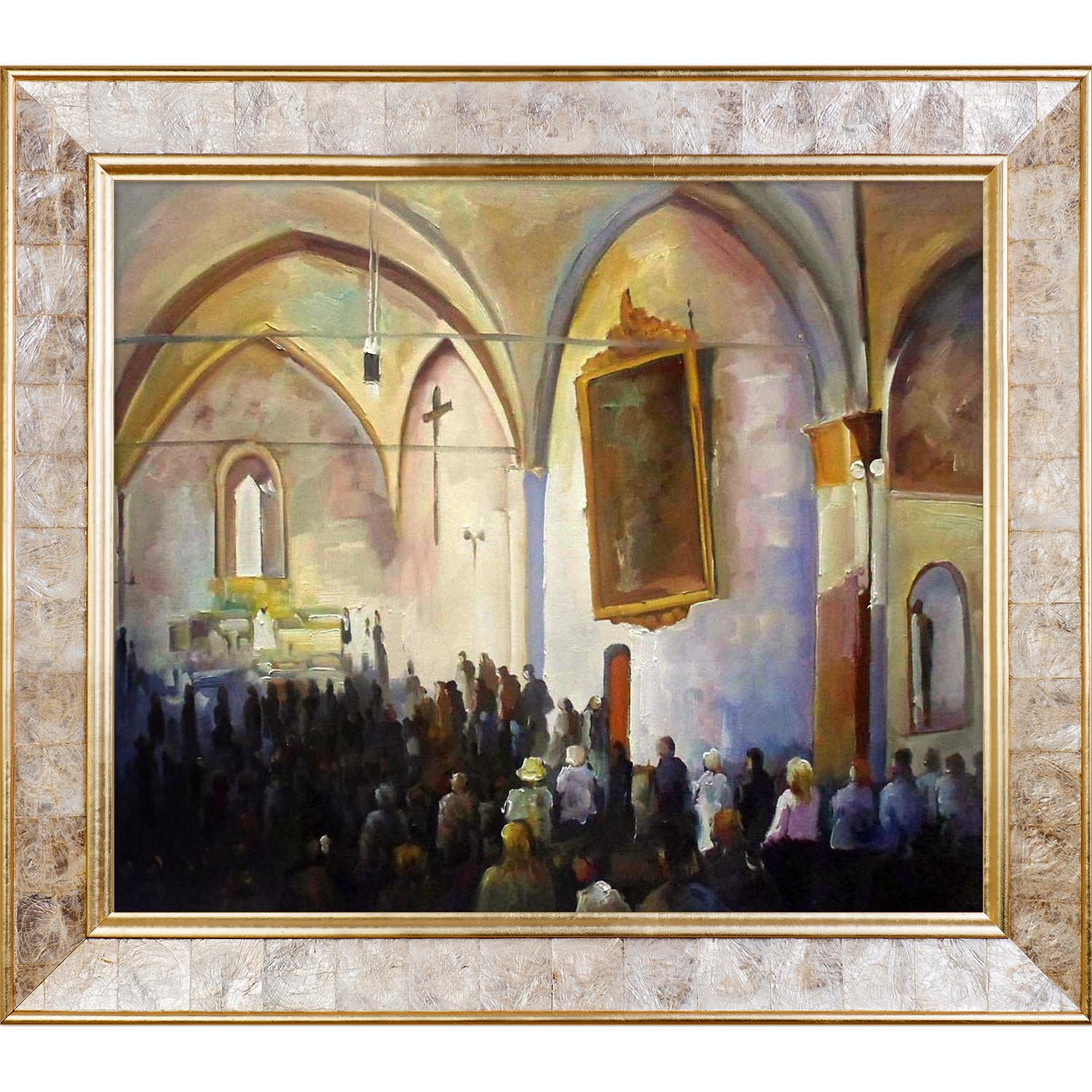 overstockArt The Wedding by Lambiase with Gold Pearl Inlay Frame by overstockArt