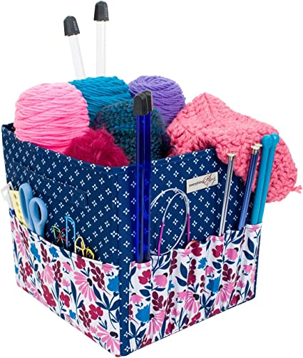 Yarn Crotchet Everything Mary Yarn Carry Organizer Project Caddy Organizer Storage Tote Yarn /& Notions Organization Tangle Free Yarn Caddy Organizer/ Collapsible Case for Knitting