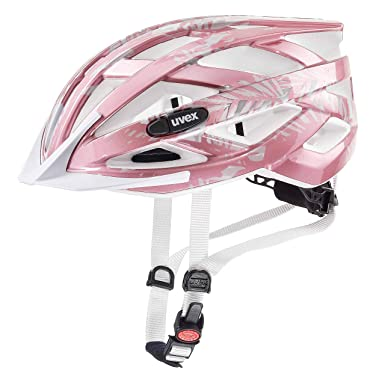 Uvex niña Air Wing Bicicleta Casco, Niñas, Color Rose-White, tamaño 52