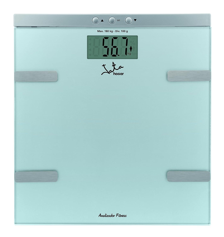 Jata Hogar 533 - Analizador de fitness de grasa y agua con base de cristal de seguridad y visor LCD: Amazon.es: Salud y cuidado personal