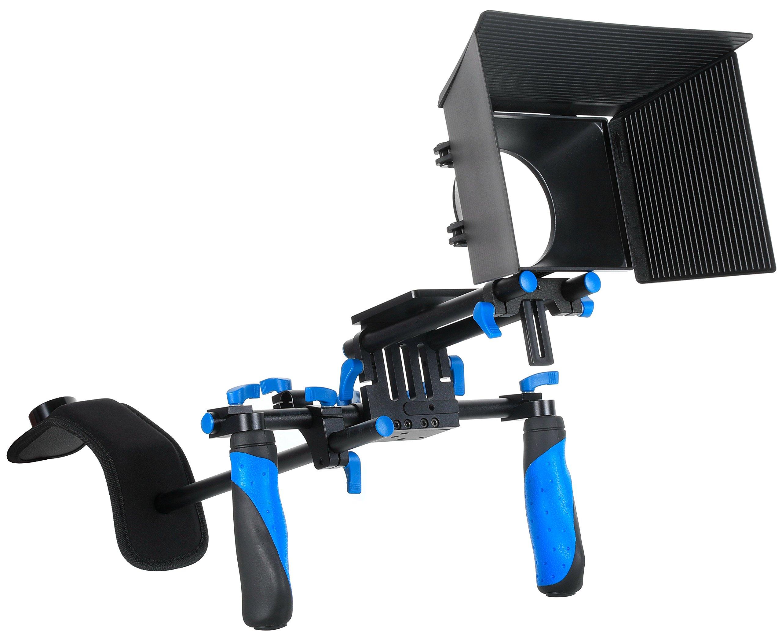MARSRE DSLR Shoulder Rig Film Making Kit with Matte Box For All DSLR Video Cameras and DV Camcorders