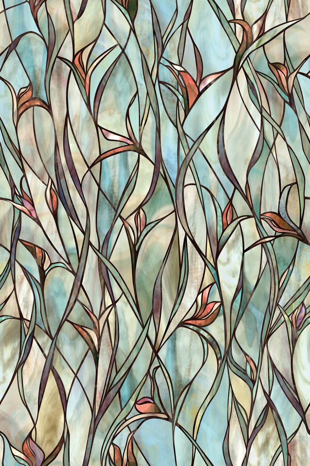 Privacy Stained Glass Decorative Window Film Stained