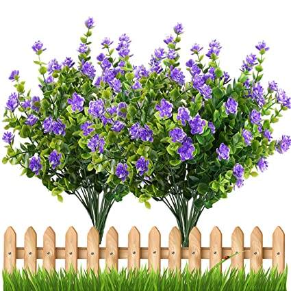 Amazon artificial flowers outdoor uv resistant plants shrubs artificial flowers outdoor uv resistant plants shrubs boxwood plastic leaves fake bushes greenery for window box mightylinksfo