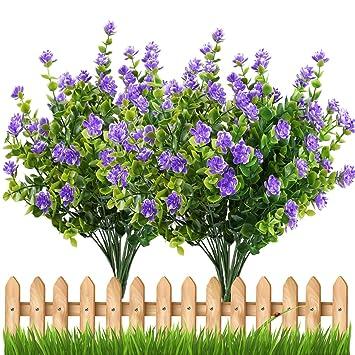 Amazoncom Artificial Flowers Outdoor Uv Resistant Plants Shrubs