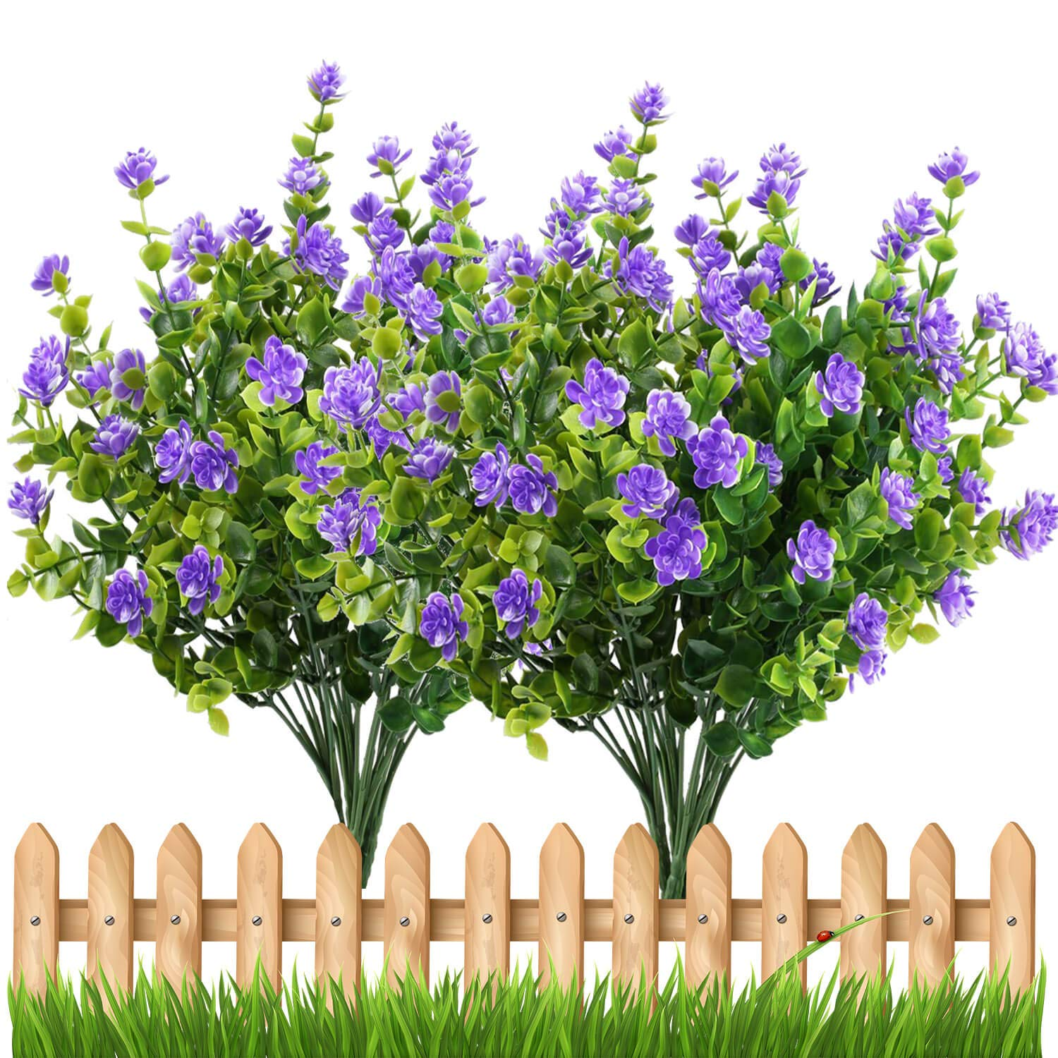 E-HAND-Artificial-Flowers-Outdoor-UV-Resistant-Plants-Shrubs-Boxwood-Plastic-Leaves-Fake-Bushes-Greenery-for-Window-Box-Home-Patio-Yard-Indoor-Garden-Light-Office-Wedding-Decor-Wholesale-4-Pack