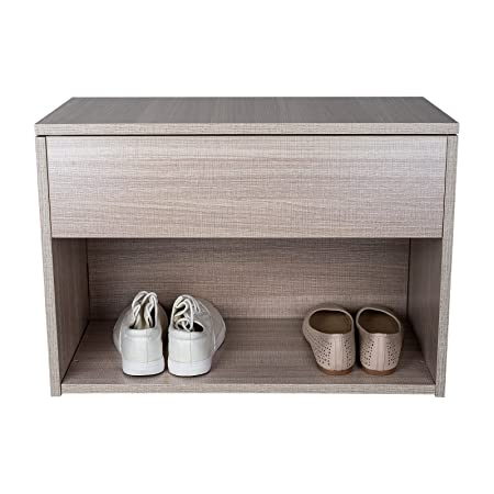 fe08094ed02c Tophomer Wooden Shoe Storage Bench Seater Cabinet Storage Footwear Rack  Stand Unit Cupboard Entryway Hallway(Natural)  Amazon.co.uk  Kitchen   Home