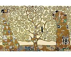 Árvore da Vida (1905) de Gustav Klimt - 50x78 - Tela Canvas Para Quadro