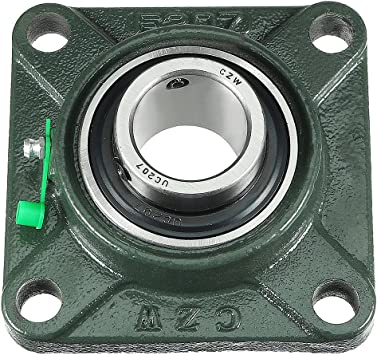 Amazon Com Uxcell Pillow Block Cast Bearing Ucf207 35mm Mounted Bear Square Flange Home Improvement