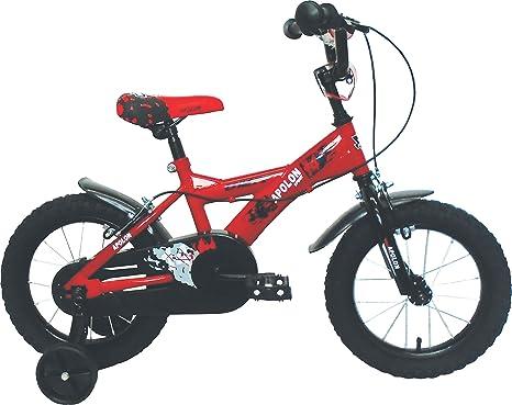 Umit J1450 Bicicleta Infantil, Niños, Rojo/Negro, 14